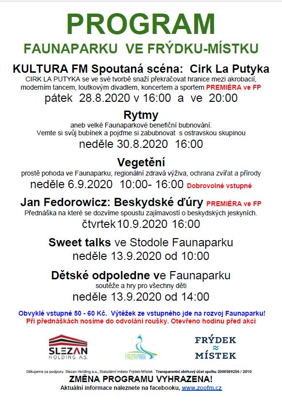 Sweet talks ve Stodole Faunaparku