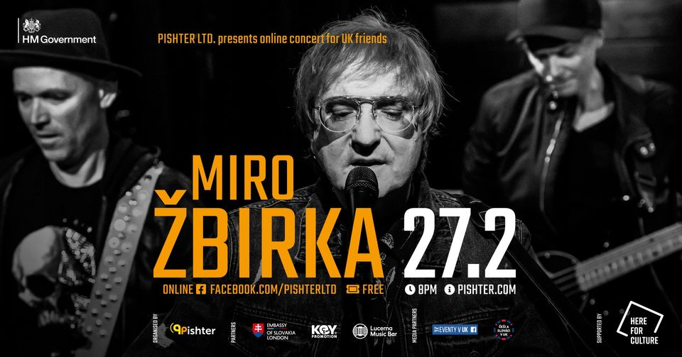 MIRO ŽBIRKA : Online Concert For UK Friends